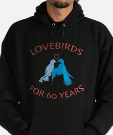 60th Anniversary Lovebirds Hoodie (dark)