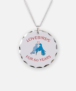 60th Anniversary Lovebirds Necklace