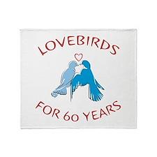 60th Anniversary Lovebirds Throw Blanket