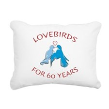 60th Anniversary Lovebirds Rectangular Canvas Pill