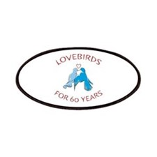 60th Anniversary Lovebirds Patches