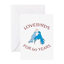 60th Anniversary Lovebirds Greeting Card