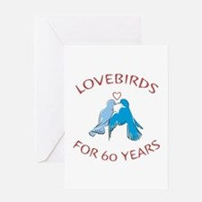 60th Anniversary Lovebirds Greeting Card