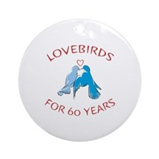 60th Anniversary Lovebirds Ornament (Round)