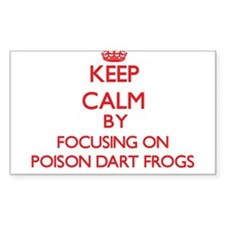 Keep calm by focusing on Poison Dart Frogs Decal