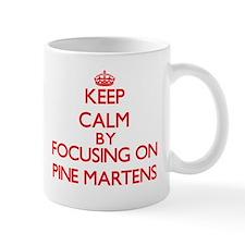 Keep calm by focusing on Pine Martens Mugs
