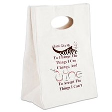 coffee and wine Canvas Lunch Tote