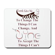 coffee and wine Mousepad