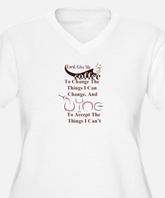 coffee and wine Plus Size T-Shirt