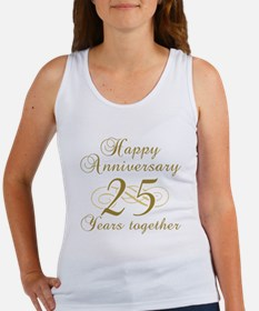 25th Anniversary (Gold Script) Women's Tank Top