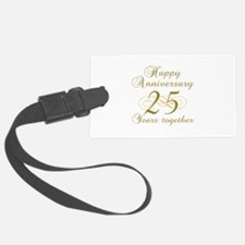 25th Anniversary (Gold Script) Luggage Tag