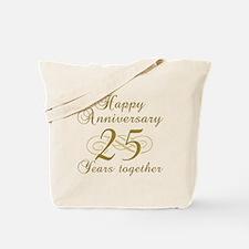 25th Anniversary (Gold Script) Tote Bag