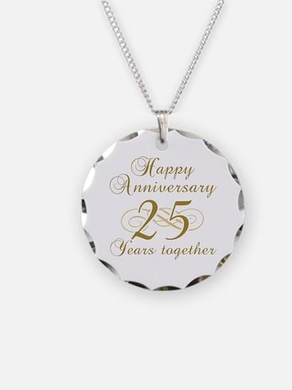 25th Anniversary (Gold Script) Necklace
