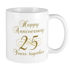 25th Anniversary (Gold Script) Mug