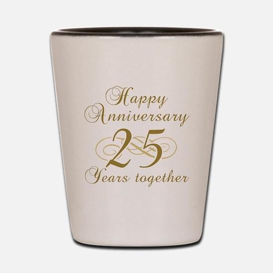 25th Anniversary (Gold Script) Shot Glass