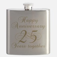 25th Anniversary (Gold Script) Flask