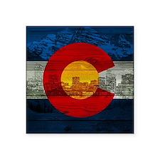"""Colorado Flag Square Sticker 3"""" x 3"""""""