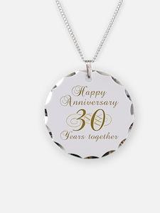 30th Anniversary (Gold Script) Necklace