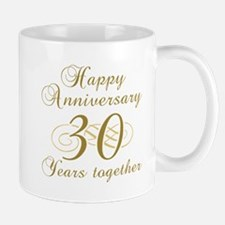 30th Anniversary (Gold Script) Mug