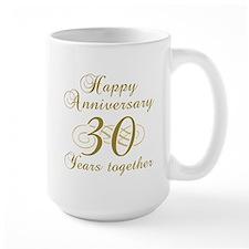 30th Anniversary (Gold Script) Mug