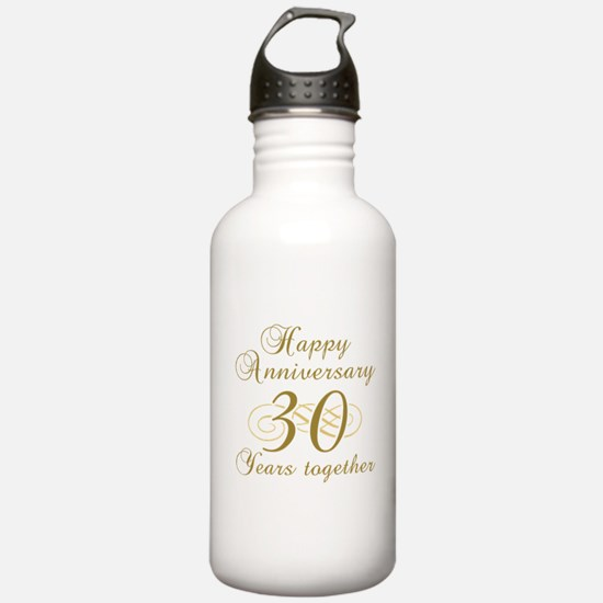 30th Anniversary (Gold Script) Water Bottle