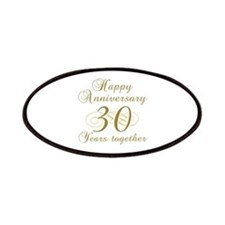 30th Anniversary (Gold Script) Patches