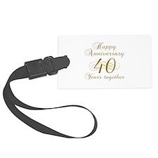 40th Anniversary (Gold Script) Luggage Tag