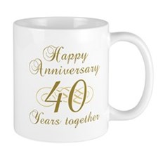 40th Anniversary (Gold Script) Mug