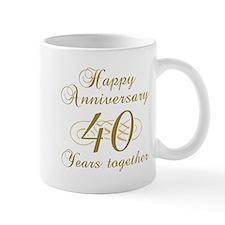 40th Anniversary (Gold Script) Mug