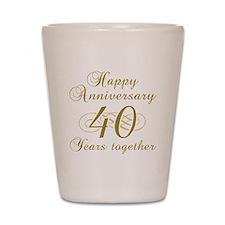 40th Anniversary (Gold Script) Shot Glass