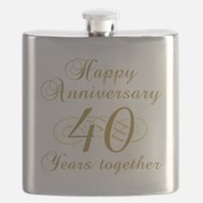 40th Anniversary (Gold Script) Flask