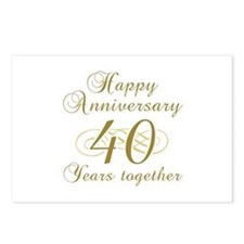 40th Anniversary (Gold Script) Postcards (Package