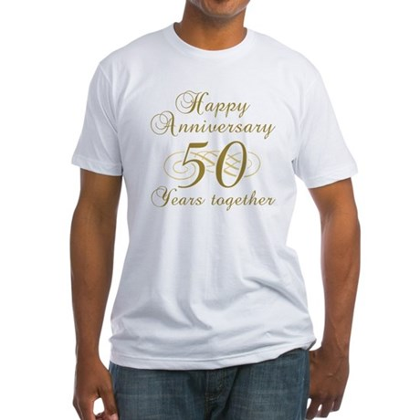 50th Anniversary (Gold Script) Fitted T-Shirt