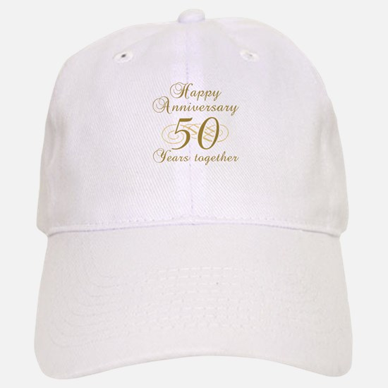 50th Anniversary (Gold Script) Baseball Baseball Cap