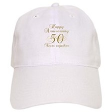 50th Anniversary (Gold Script) Baseball Cap