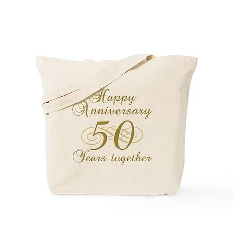 50th Anniversary (Gold Script) Tote Bag