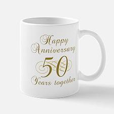 50th Anniversary (Gold Script) Mug