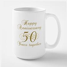50th Anniversary (Gold Script) Large Mug