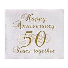 50th Anniversary (Gold Script) Throw Blanket