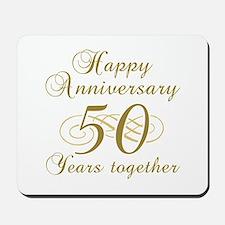 50th Anniversary (Gold Script) Mousepad