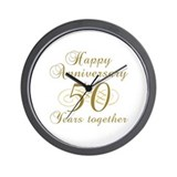 50th anniversary Wall Clocks