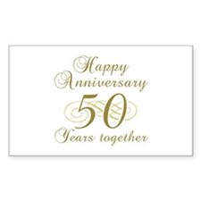 50th Anniversary (Gold Script) Decal