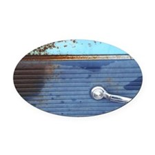 Silver Door handle, Old Blue and T Oval Car Magnet