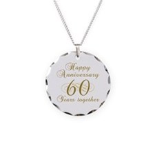 60th Anniversary (Gold Script) Necklace