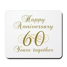 60th Anniversary (Gold Script) Mousepad
