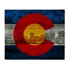 co flag Throw Blanket