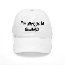 Allergic to Omelette Baseball Cap