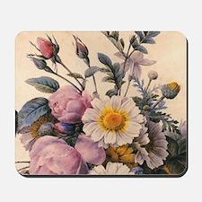 vintage botanical art, beautiful daisy a Mousepad