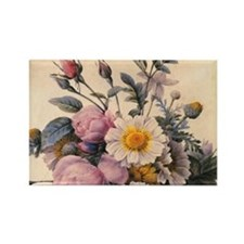 vintage botanical art, beautiful  Rectangle Magnet
