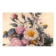 vintage botanical art, be Postcards (Package of 8)